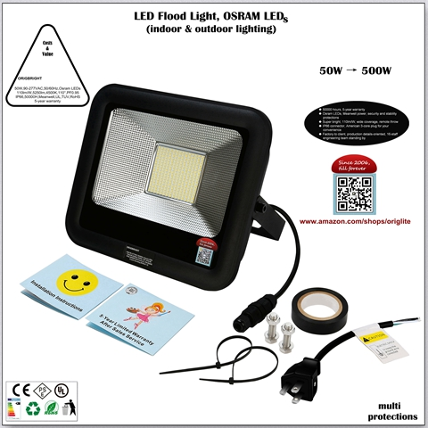 10-100W Osram LED Flood Light(Meanwell Powered)